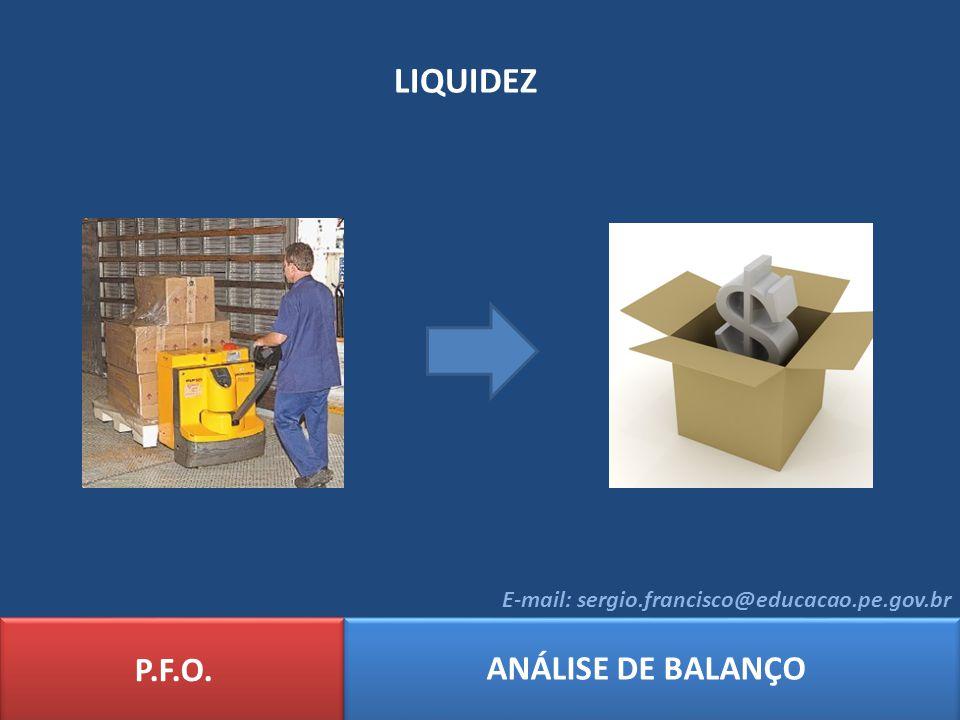 LIQUIDEZ P.F.O. ANÁLISE DE BALANÇO