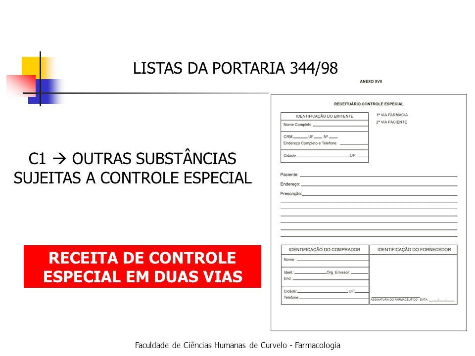 RECEITA DE CONTROLE ESPECIAL EM DUAS VIAS