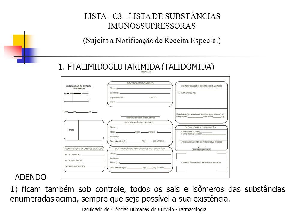 LISTA - C3 - LISTA DE SUBSTÂNCIAS IMUNOSSUPRESSORAS