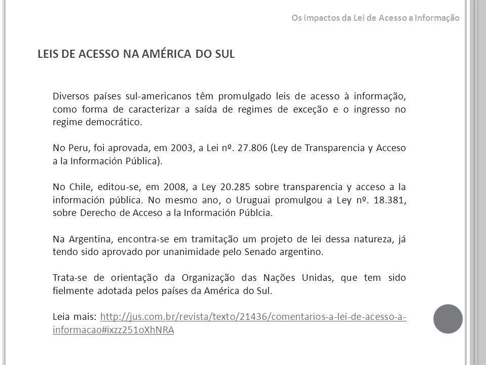 LEIS DE ACESSO NA AMÉRICA DO SUL