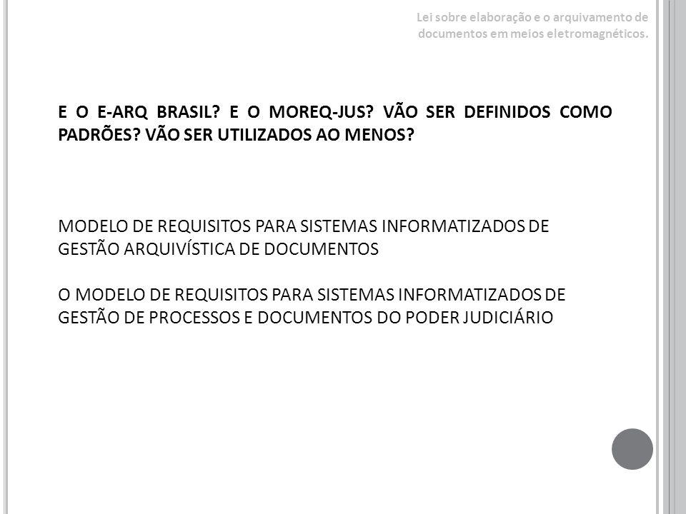 Lei sobre elaboração e o arquivamento de documentos em meios eletromagnéticos.