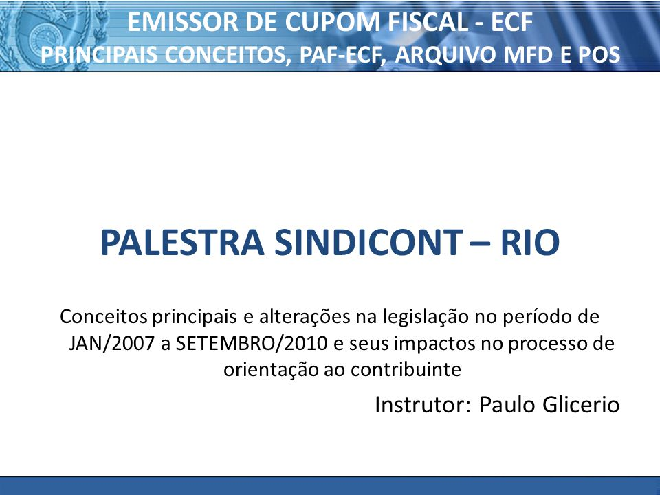 PALESTRA SINDICONT – RIO