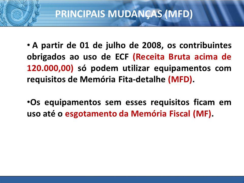 PRINCIPAIS MUDANÇAS (MFD)