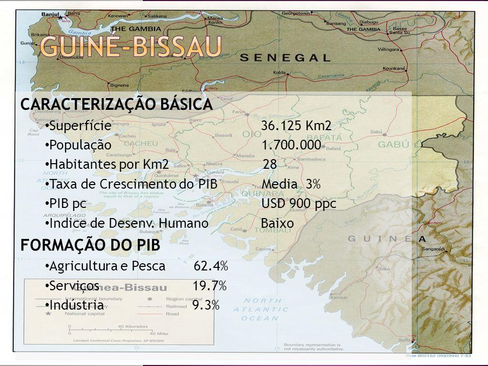 Guiné-Bissau CARACTERIZAÇÃO BÁSICA FORMAÇÃO DO PIB