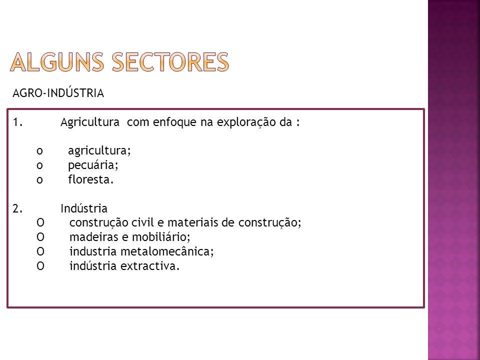 ALGUNS SECTORES AGRO-INDÚSTRIA
