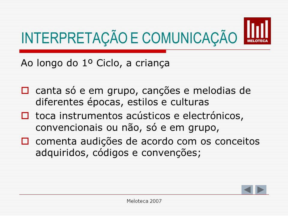 INTERPRETAÇÃO E COMUNICAÇÃO