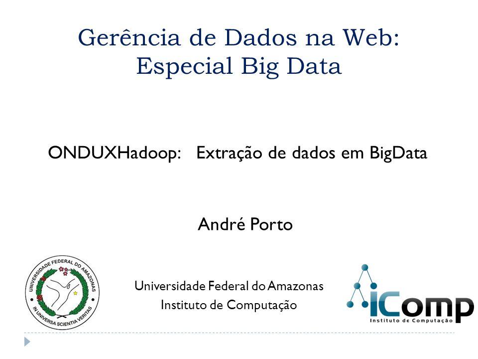 Gerência de Dados na Web: Especial Big Data