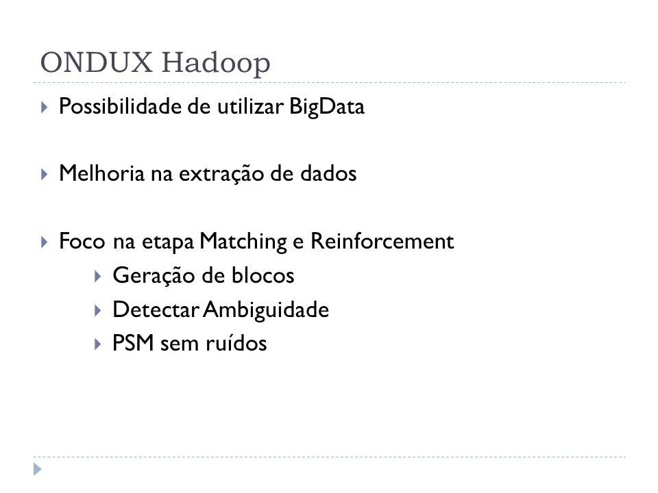 ONDUX Hadoop Possibilidade de utilizar BigData