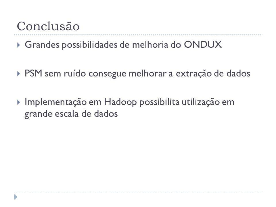 Conclusão Grandes possibilidades de melhoria do ONDUX