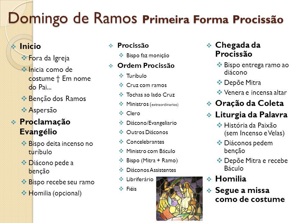 Domingo de Ramos Primeira Forma Procissão