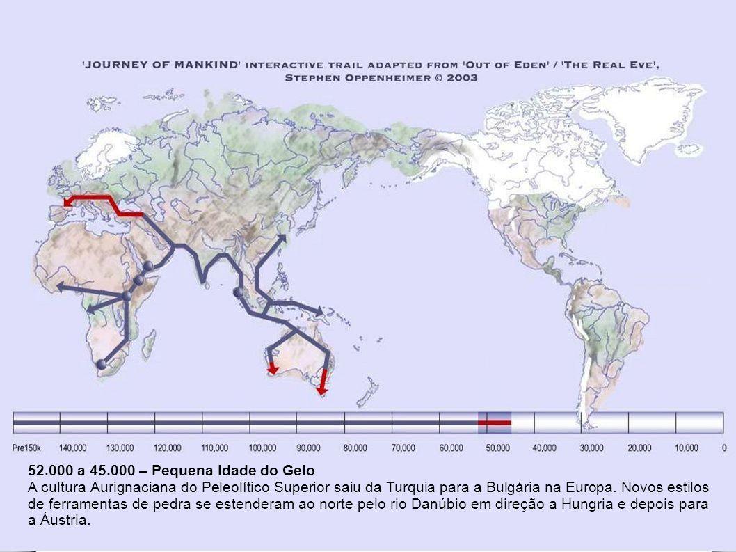 52.000 a 45.000 – Pequena Idade do Gelo
