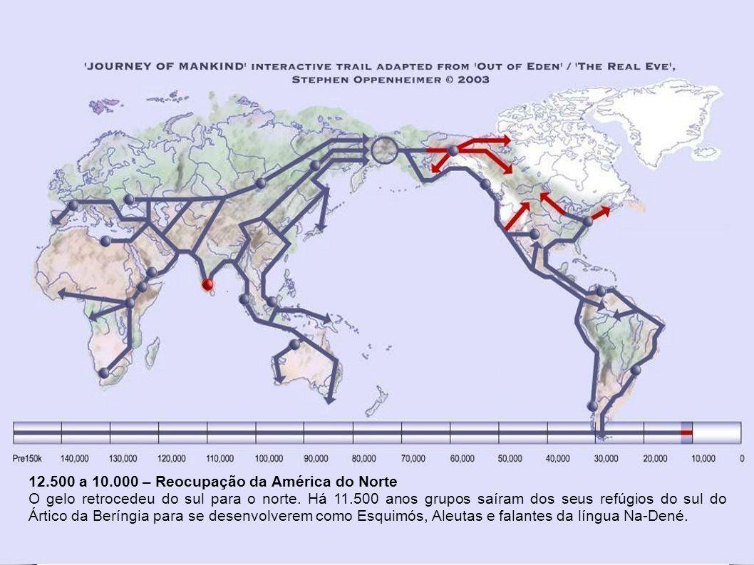 12.500 a 10.000 – Reocupação da América do Norte