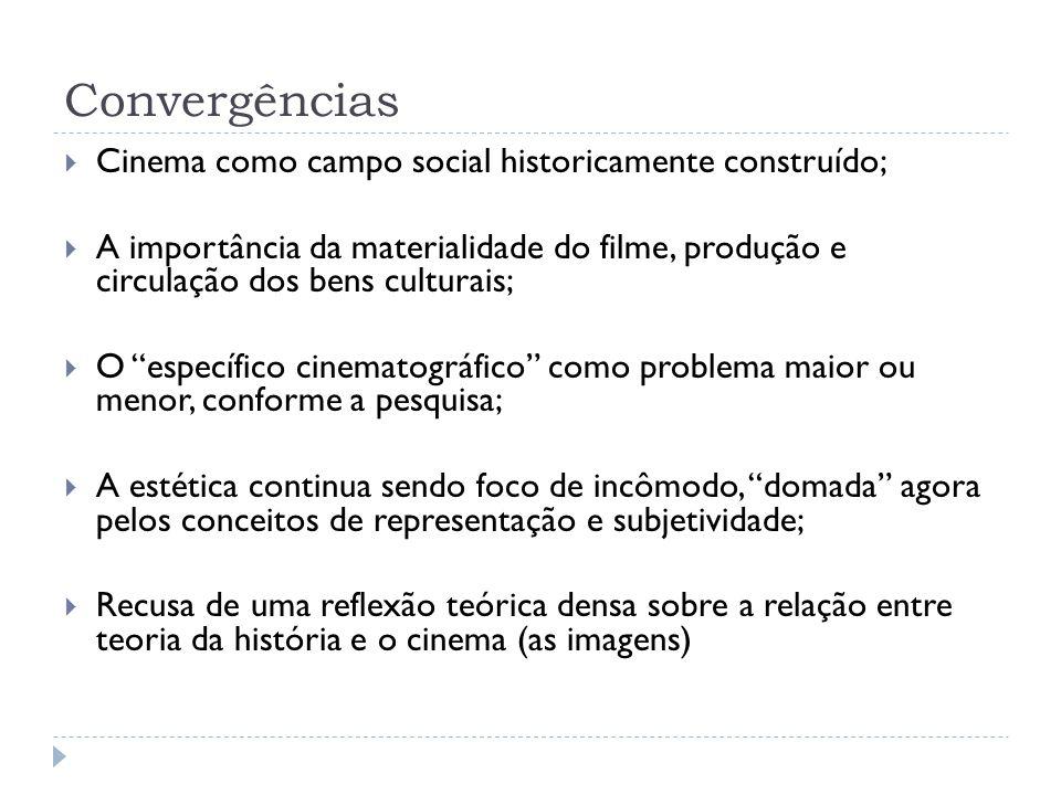 Convergências Cinema como campo social historicamente construído;
