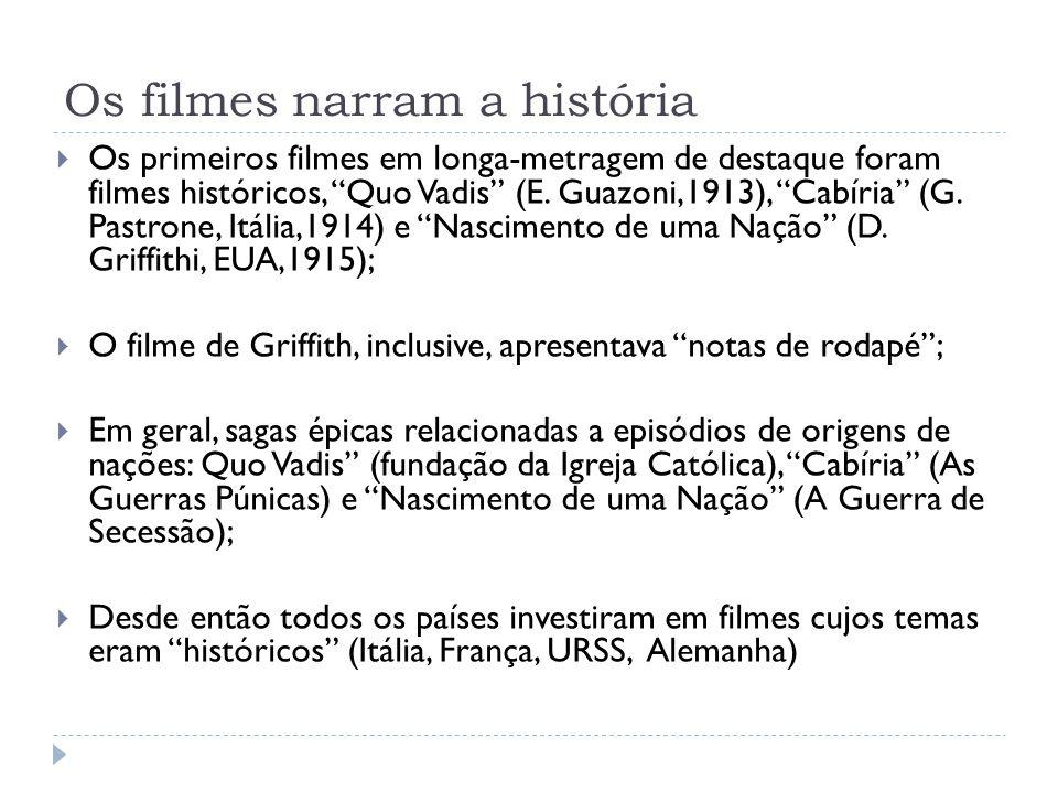 Os filmes narram a história