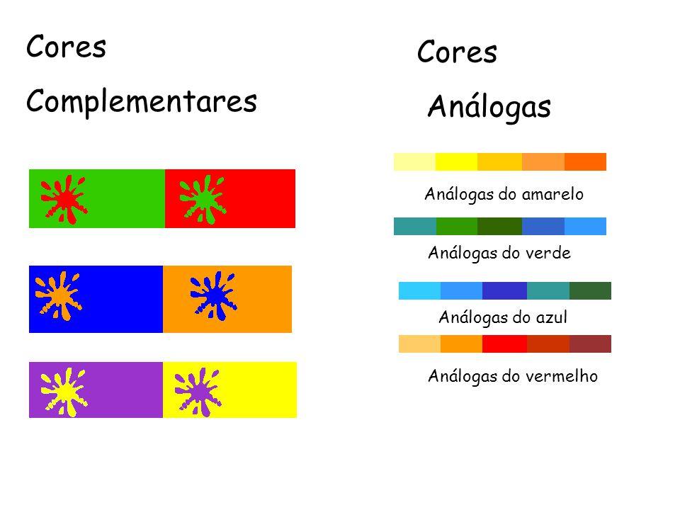Cores Cores Complementares Análogas Análogas do amarelo