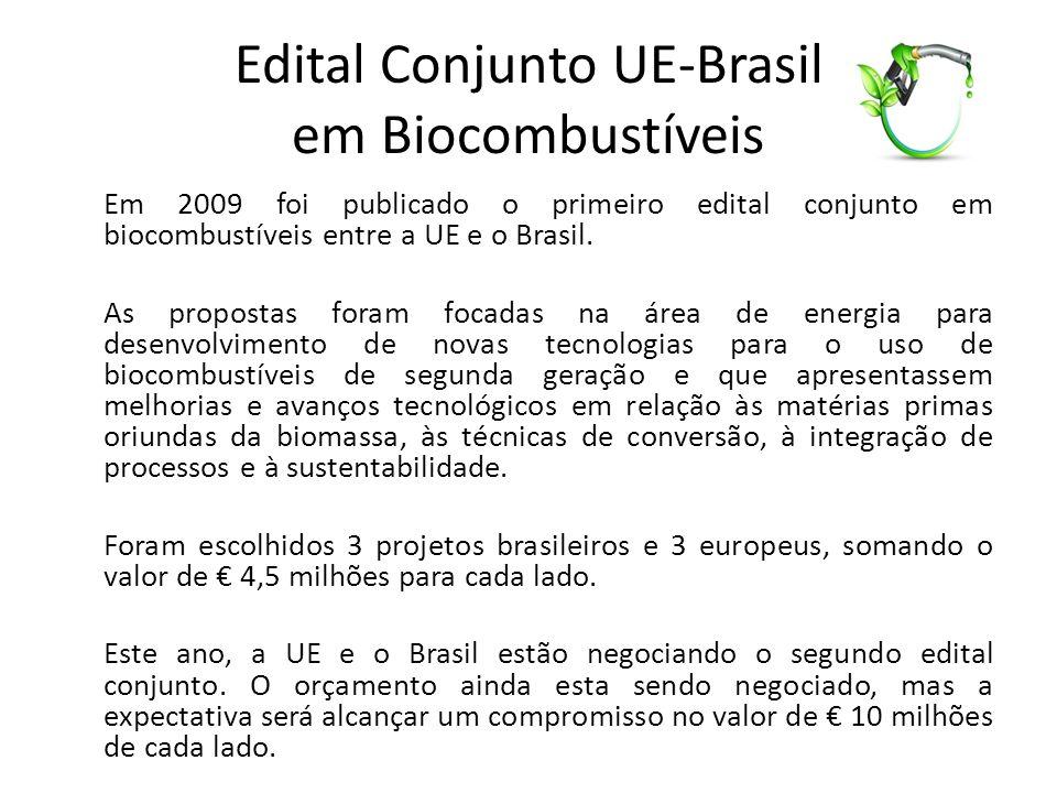 Edital Conjunto UE-Brasil em Biocombustíveis
