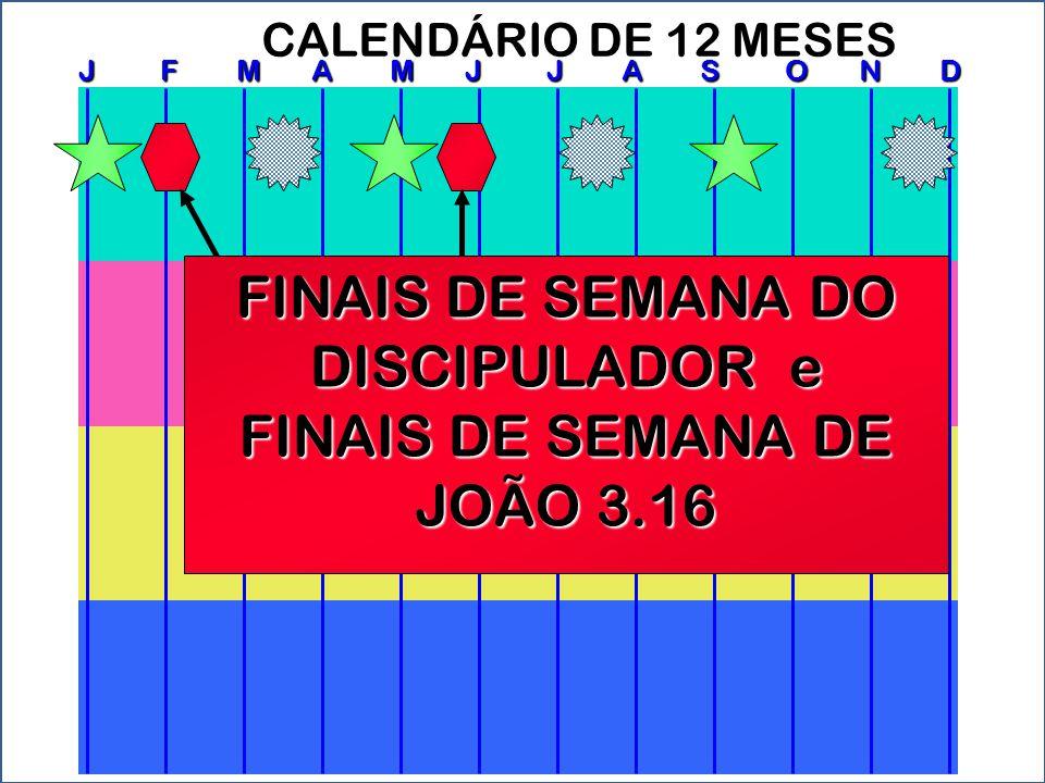 FINAIS DE SEMANA DO DISCIPULADOR e FINAIS DE SEMANA DE JOÃO 3.16