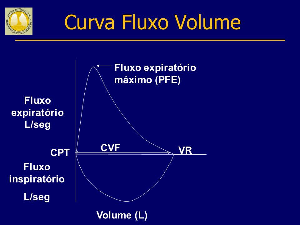 Curva Fluxo Volume Fluxo expiratório máximo (PFE) Fluxo expiratório