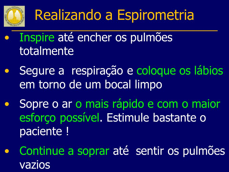 Realizando a Espirometria