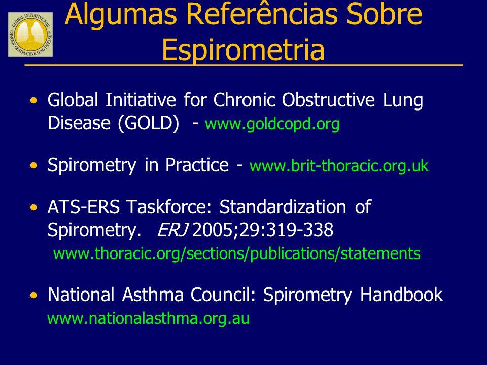 Algumas Referências Sobre Espirometria