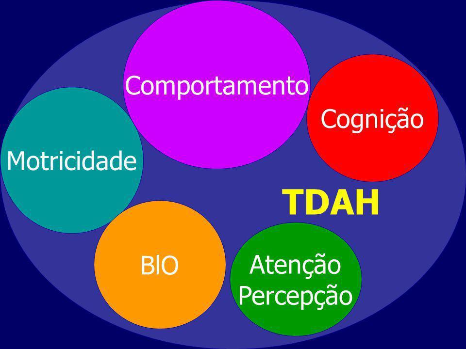 TDAH Comportamento Cognição Motricidade BlO Atenção Percepção