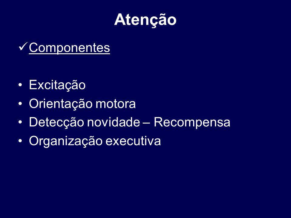 Atenção Componentes Excitação Orientação motora