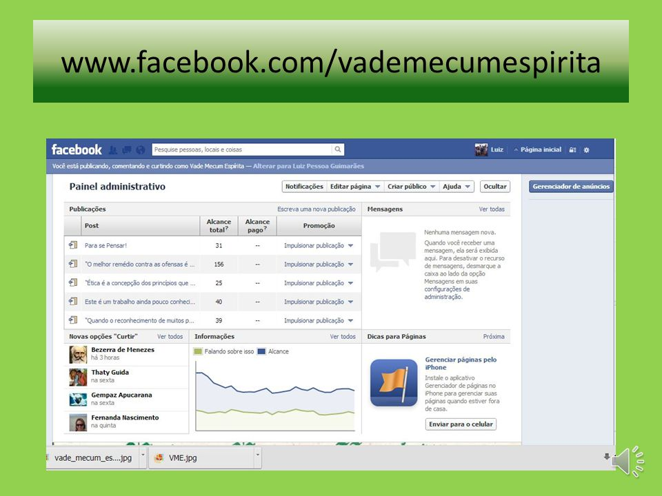 www.facebook.com/vademecumespirita