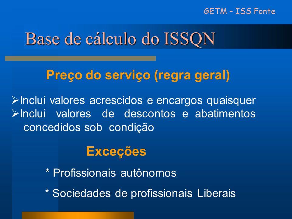 Base de cálculo do ISSQN