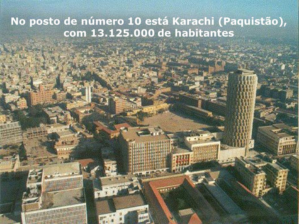 No posto de número 10 está Karachi (Paquistão),