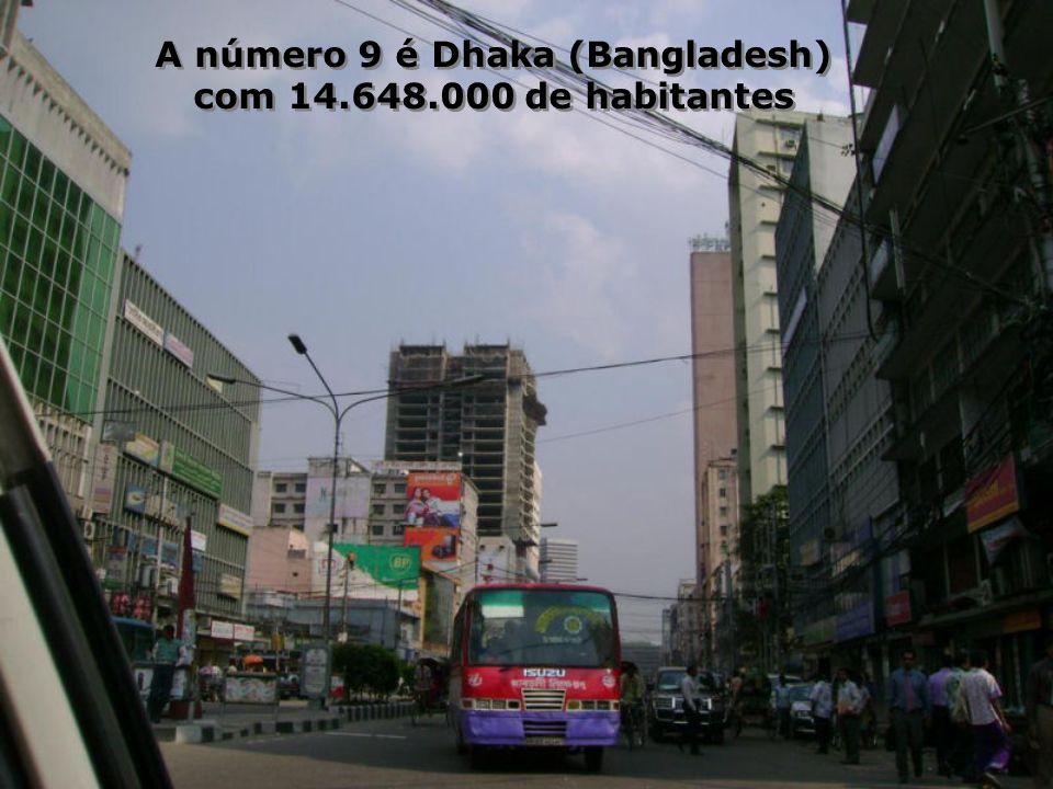 A número 9 é Dhaka (Bangladesh)