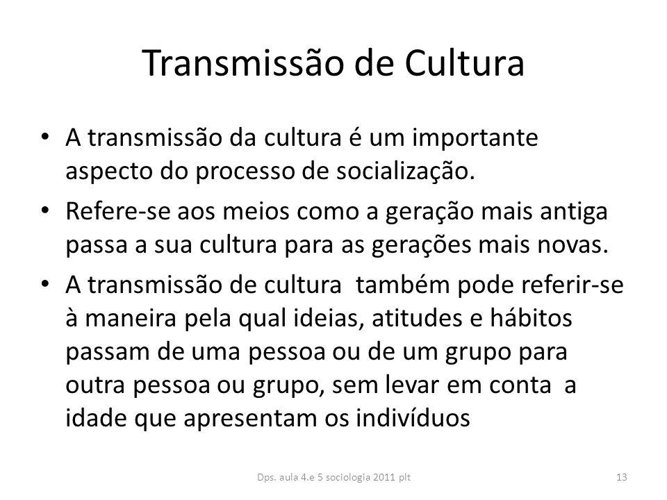 Transmissão de Cultura