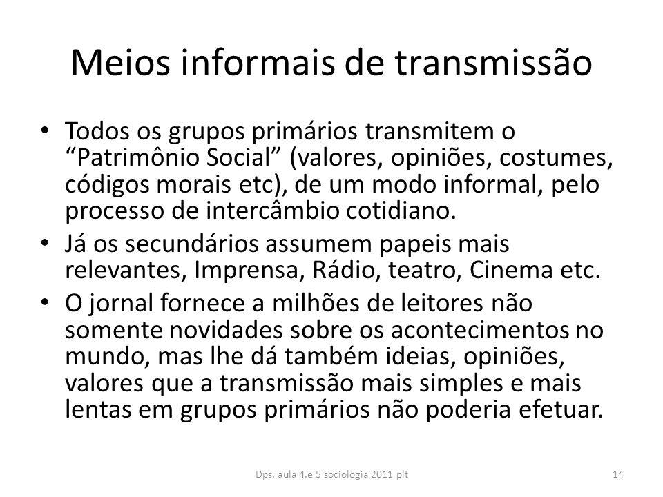 Meios informais de transmissão