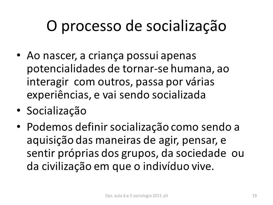 O processo de socialização