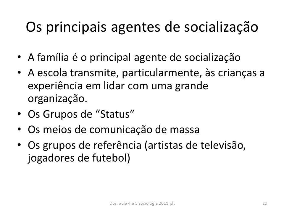 Os principais agentes de socialização