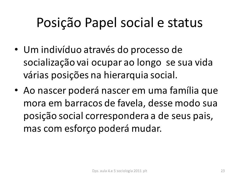Posição Papel social e status