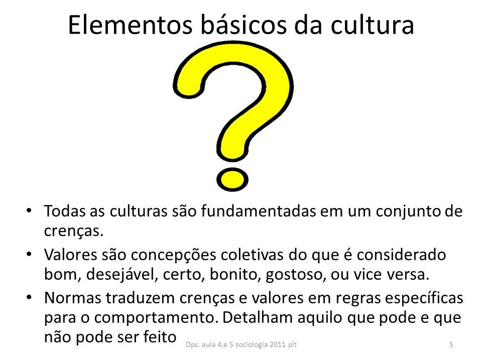 Elementos básicos da cultura