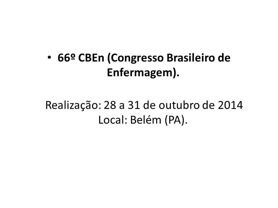 66º CBEn (Congresso Brasileiro de Enfermagem).