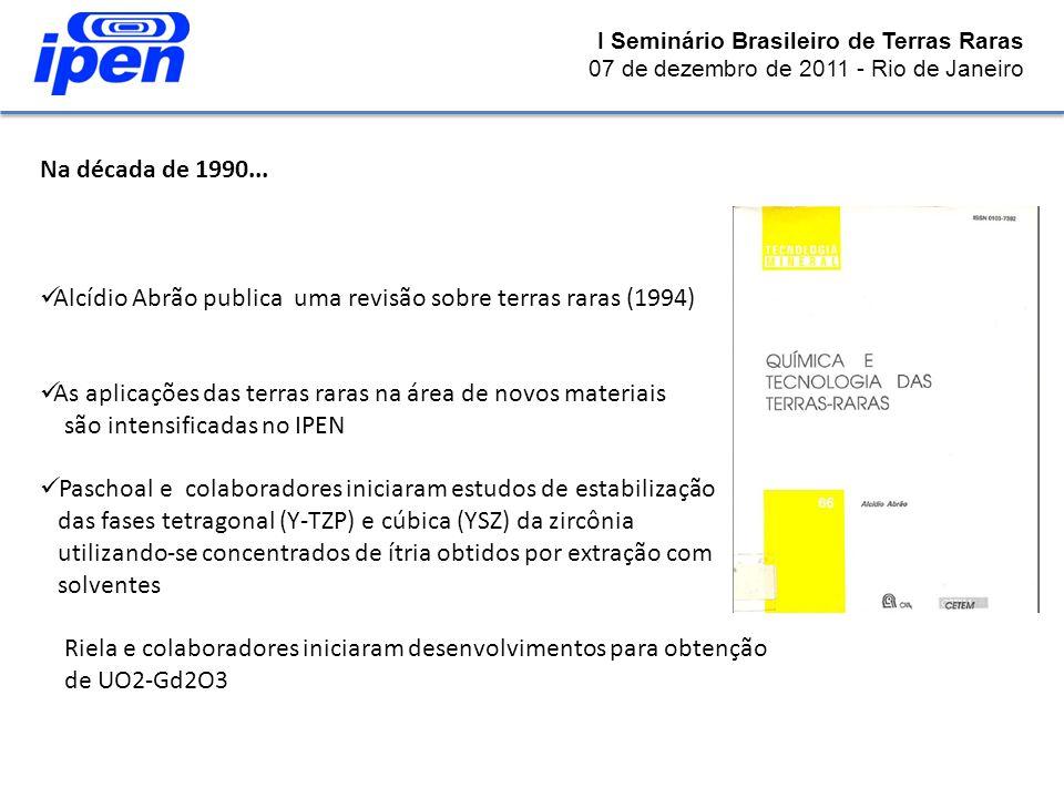 Alcídio Abrão publica uma revisão sobre terras raras (1994)