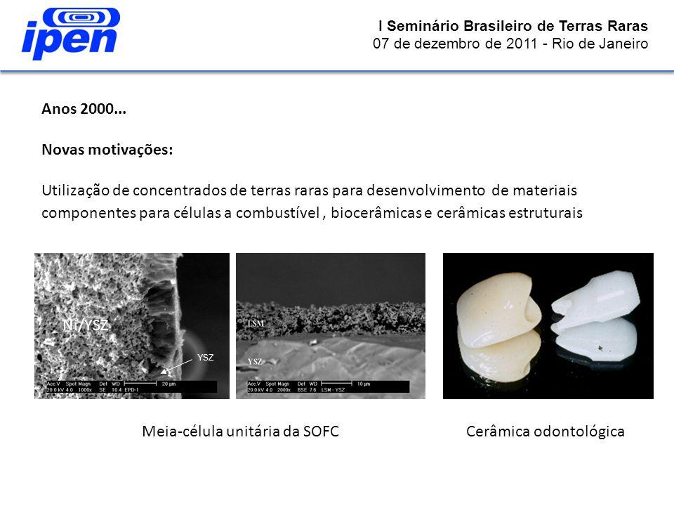 Meia-célula unitária da SOFC Cerâmica odontológica
