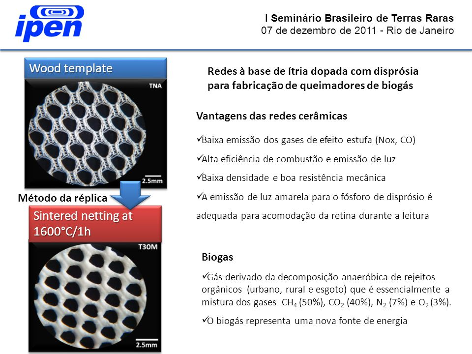 Sintered netting at 1600°C/1h