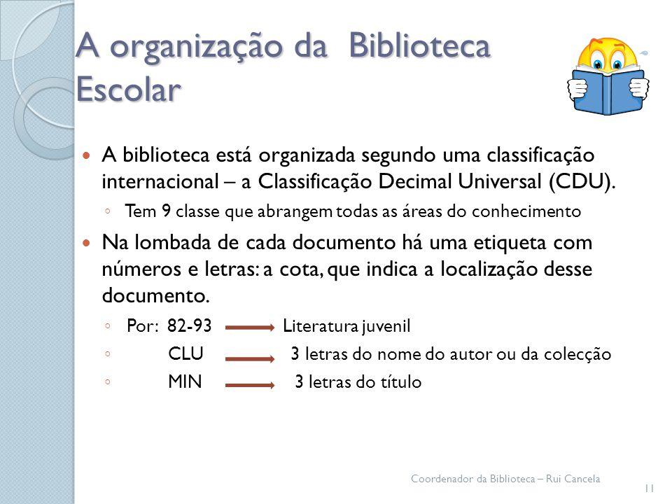 A organização da Biblioteca Escolar