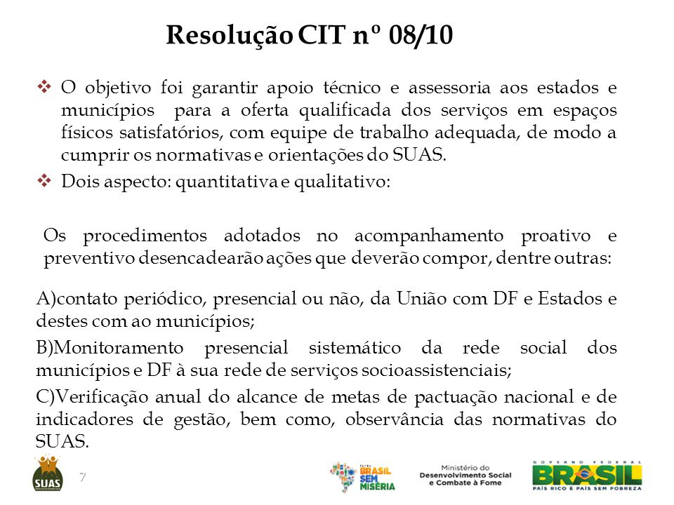 Resolução CIT nº 08/10