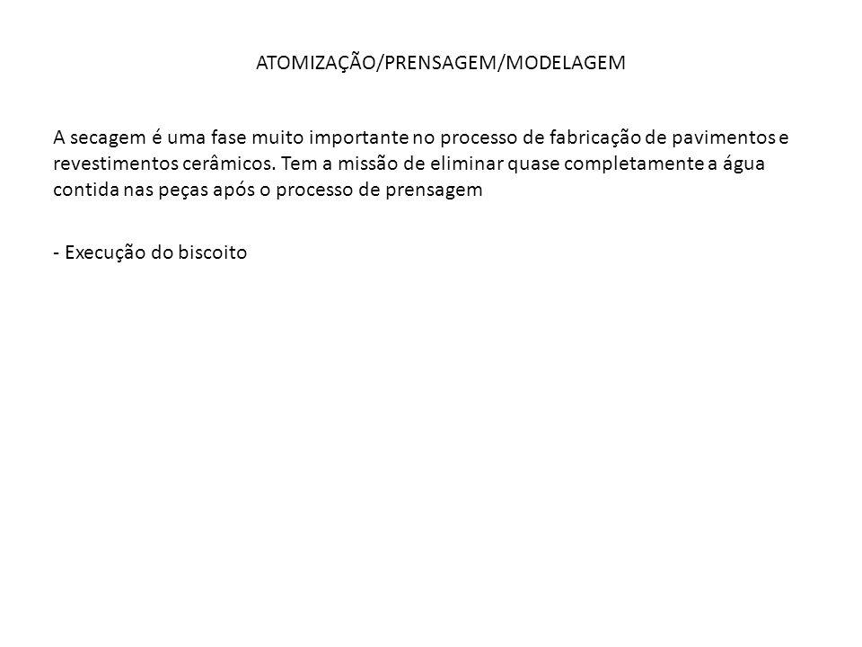 ATOMIZAÇÃO/PRENSAGEM/MODELAGEM
