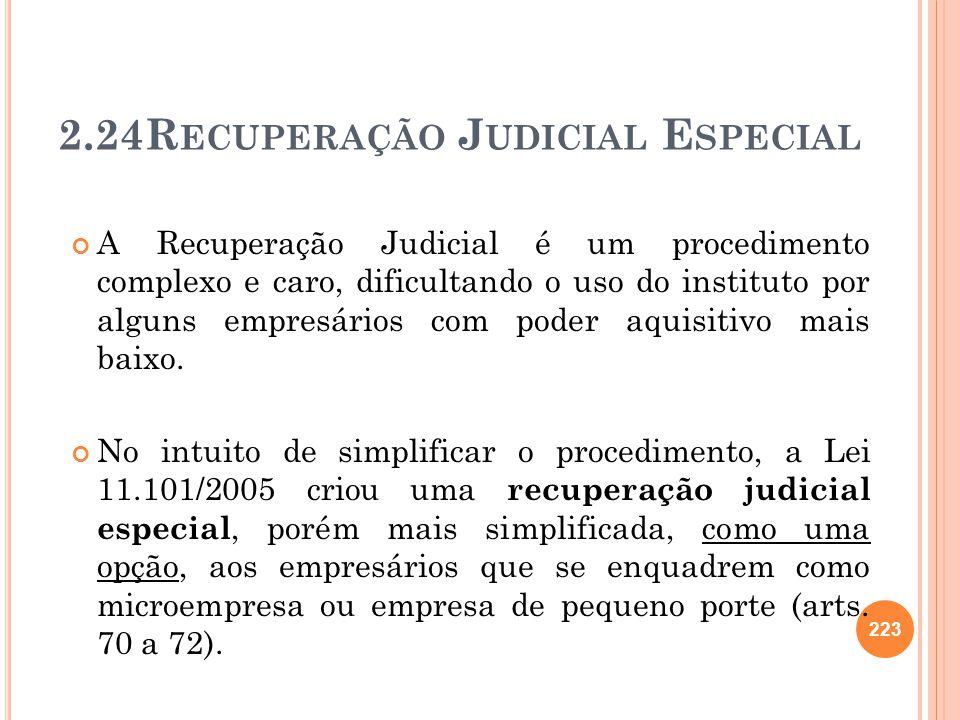 2.24Recuperação Judicial Especial