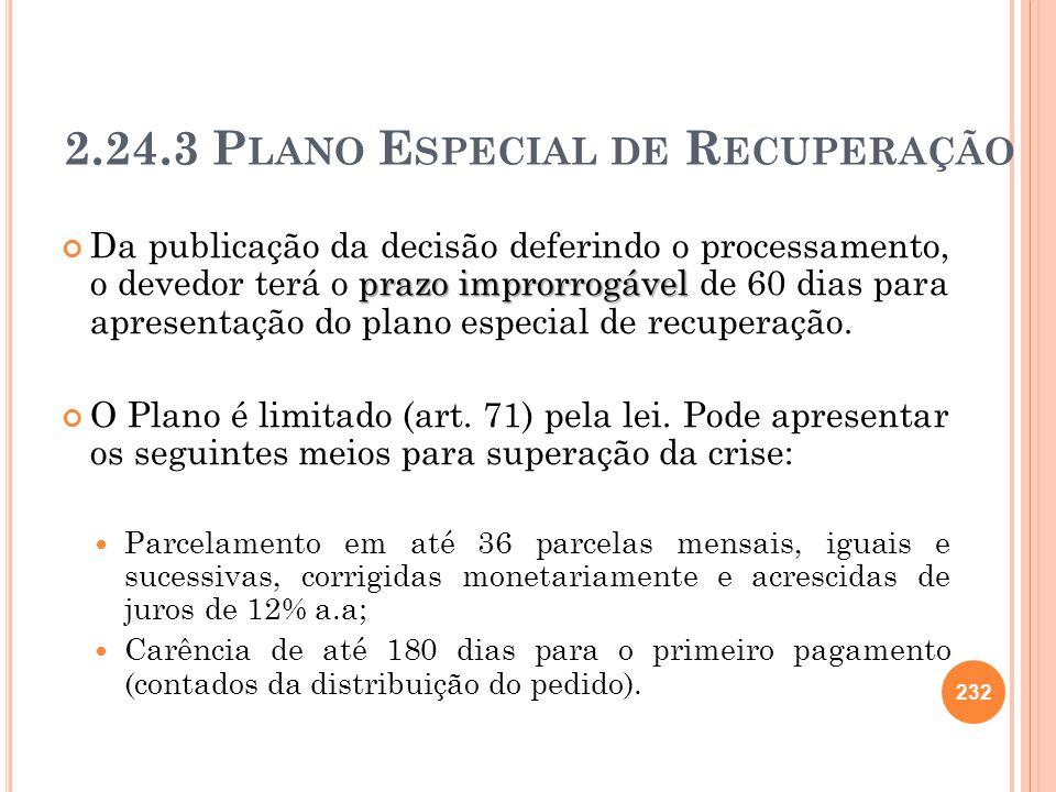 2.24.3 Plano Especial de Recuperação