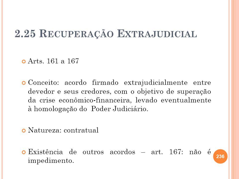 2.25 Recuperação Extrajudicial