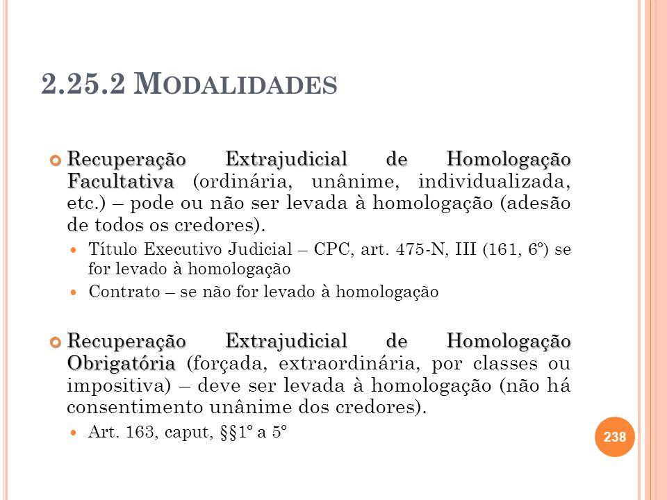 2.25.2 Modalidades