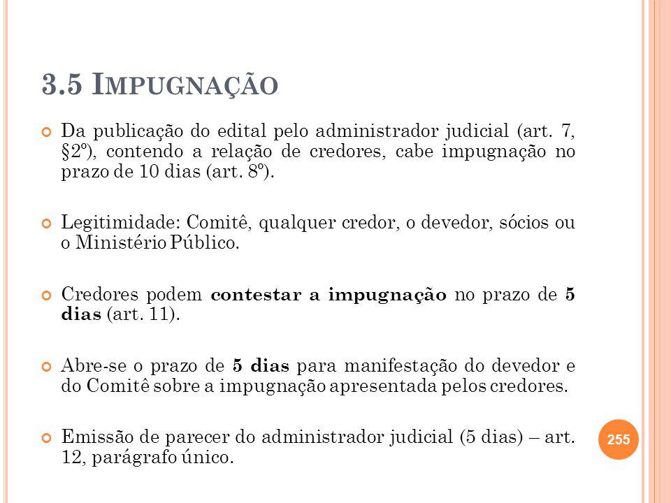 3.5 Impugnação