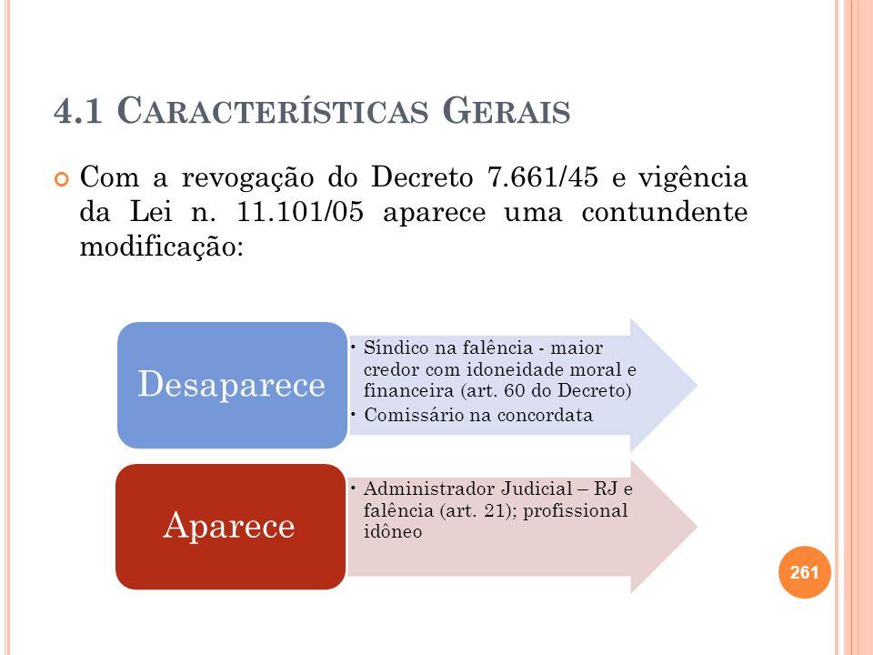 4.1 Características Gerais