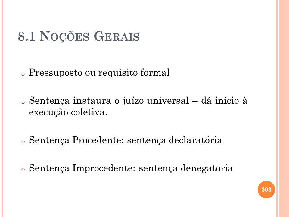 8.1 Noções Gerais Pressuposto ou requisito formal